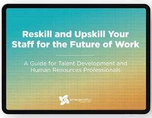Cover art for eBook titled Reskill and Upskill Your Staff for the Future of Work